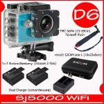 SJ5000X (Blue)+ Battery + Dual Charger + TMC Selfie + Bag(L)