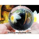 ดวงแก้วหินควอตส์ใสแท้ (จุยเจีย) ขนาด 5 เซนติเมตร เกรด A (190g)