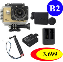 X1000+Extra Battery +Dual Charger +Protective Lens+ TMC Selfie (Red Color)