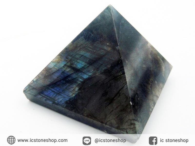 หินทรงพีระมิค-ลาบราดอไลท์ Labradorite (131g)