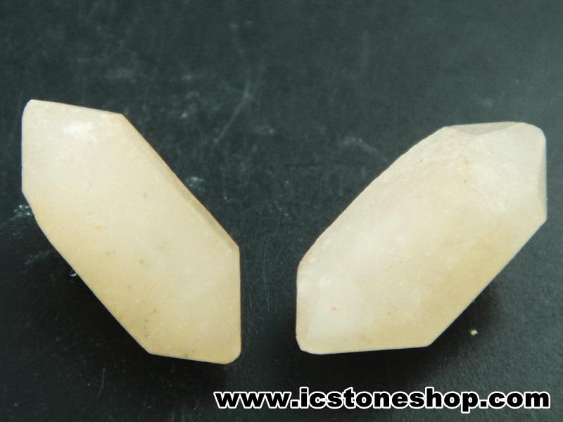 ▽เพชรพิคอส Pecos Diamond จาก New Mexico 2 ชิ้น (2.1g)