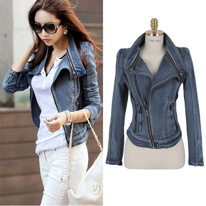 [[พร้อมส่ง]] เสื้อแจ็คเก็ตยีนส์แขนยาวเนื้อดี cutting/pattern เนี๊ยบสวยเหมือนแบบ รหัสA13