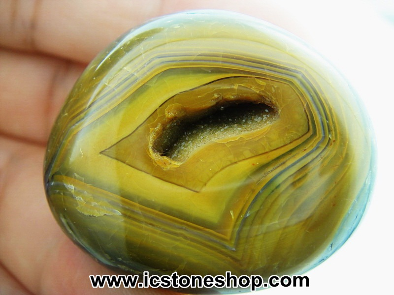▽เดนไดทริก อาเกต Dendritic Agateขัดมันจากมาดากัสการ์ (38g)