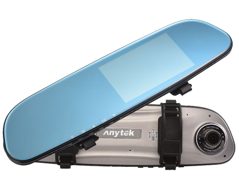 กล้องติดรถยนต์ Anytek G77 กล้องหน้า-หลัง จอสัมผัส(touch screen) บันทึกภาพแบบ Full HD 1080P ใช้งานเป็นกระจกมองหลัง โดยเป็นกระจกสีฟ้า มีคุณสมบัติตัดแสงในตัว จอแสดงผล 4.5 นิ้ว IPS HD ใช้ระบบสัมผัสหน้าจอ G77 สามารถเก็บหลักฐานกรณีเกิดอุบัติเหตุ และบันทึกเหตุการณ์ต่างๆบนถนน ทั้งหน้าด้านหน้า ด้านหลังรถ