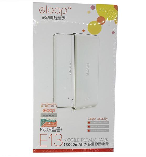 อุปกรณ์ภายในกล่อง Power bank ELOOP E13 แบตสำรอง 13000 mAh ของแท้ 100% , สายชาร์จแบตสำรอง 1 เส้น (สายชาร์จ Micro USB) , คู่มือการใช้งาน ,รับประกัน 6 เดือน