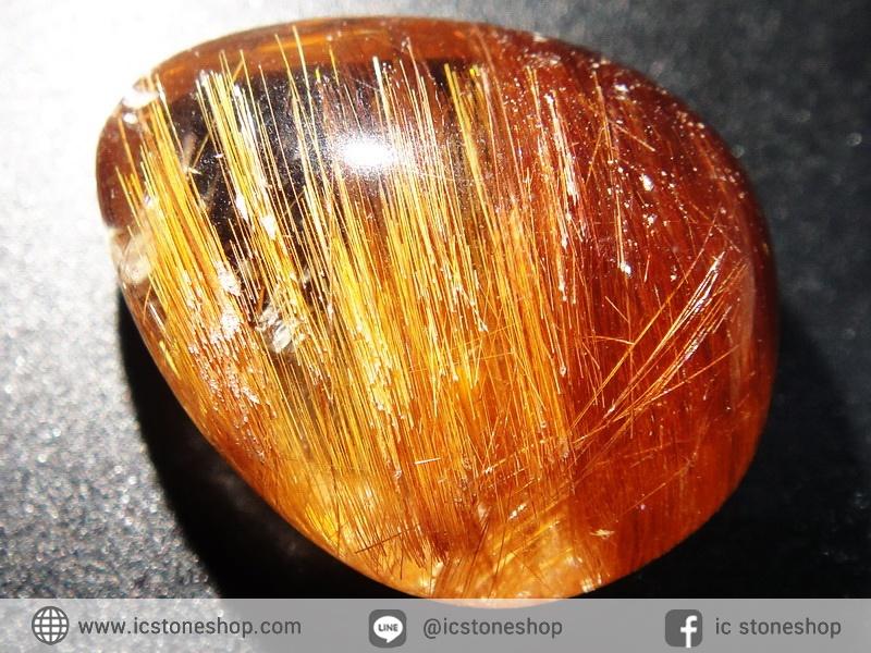 ▽=โปรโมชั่น= พลอยไหมนาค Copper Rutilated Quartz (18.43 ct.)