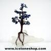 ต้นไม้มงคล หินโซดาไลต์+ควอตซ์ ใช้เสริมฮวงจุ้ย โต๊ะทำงาน (625g)