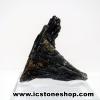 ▽ไคยาไนท์สีดำ Black Kyanite (20g) พร้อมฐานกระจก