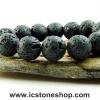 ▽สร้อยหินลาวา (Lava Stone) 14mm.