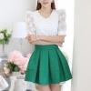 [พร้อมส่ง]เสื้อสตรีสีขาวเนื้อดี ช่วงตัวและแขนเป็นผ้าลูกไม้สวยหวาน ตัดเย็บเรียบร้อยใส่ได้หลายโอกาสค่ะรหัส MN24