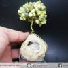 ต้นไม้มงคล หินเซอร์เพนไทน์ SERPENTINE-ฐานควอตซ์ ใช้เสริมฮวงจุ้ย โต๊ะทำงาน (188g)