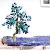 ต้นไม้มงคล ต้นไม้ หินลาพิส ลาซูลี่ Lapis Lazuli ใช้เสริมฮวงจุ้ย โต๊ะทำงาน (642g)