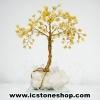 ต้นไม้มงคล หินหยกน้ำผึ้ง+ควอตซ์ ใช้เสริมฮวงจุ้ย โต๊ะทำงาน (527g)