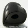 พลอยนิลทรงหัวใจ (Black Spinel) - 116.15ct.
