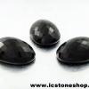 พลอยนิลทรงรี 3 ชิ้น(Black Spinel) - 135.27ct.