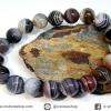 สร้อยหิน บอตสวานาอาเกต ( Botswana Agate ) 10mm.