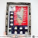 ชุดหินสะสมในกรอบรูปจากมาดากัสการ์ (33 x 24 cm.)