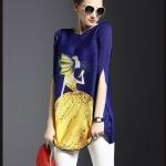 [พร้อมส่ง] เสื้อไสตล์เกาหลีดีเทล ผ้าพลีทโพลีเอสเตอร์ ต่อผ้าสีสดพิมพ์ลายด้านหน้า คอกลมแขนสามส่วนทรงสวย เนื้อผ้าทิ้งตัวสวย การตัดเย็บเรียบร้อย สีสดชัด คุณภาพดีค่ะMN36