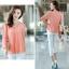 [พร้อมส่ง]เสื้อสตรีผ้าชีฟอง สวยเรียบสไตล์เกาหลีเหมือนแบบค่ะ cutting/pattern เนี้ยบ รหัส A71 thumbnail 10