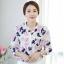 [พร้อมส่ง]เสื้อเชิ้ตสไตล์เกาหลี ผ้าชีฟองพิมพ์ลายสีสดใส สวมใส่สบายตัดเย็บเรียบร้อยค่ะ รหัสMN38 thumbnail 1