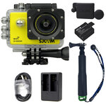 X1000 Yellow +Extra Battery+Dual Charger+Protective Lens+TMC Selfie (Green)