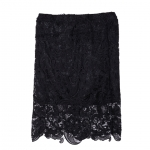 [พร้อมส่ง] กระโปรงผ้าลูกไม้เนื้อดีทรงสอบสีดำ สวยหรูแมชกับเสื้อได้หลายแบบ ตัดเย็บเรียบร้อยสวยเหมือนแบบค่ะรหัส B33
