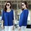 [พร้อมส่ง]เสื้อสตรีผ้าชีฟอง สวยเรียบสไตล์เกาหลีเหมือนแบบค่ะ cutting/pattern เนี้ยบ รหัส A71 thumbnail 11