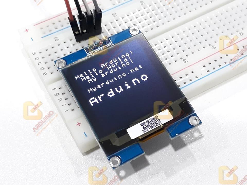 จอแสดงผล OLED SSD1327 128x128 แบบ I2C ขนาด 1 5