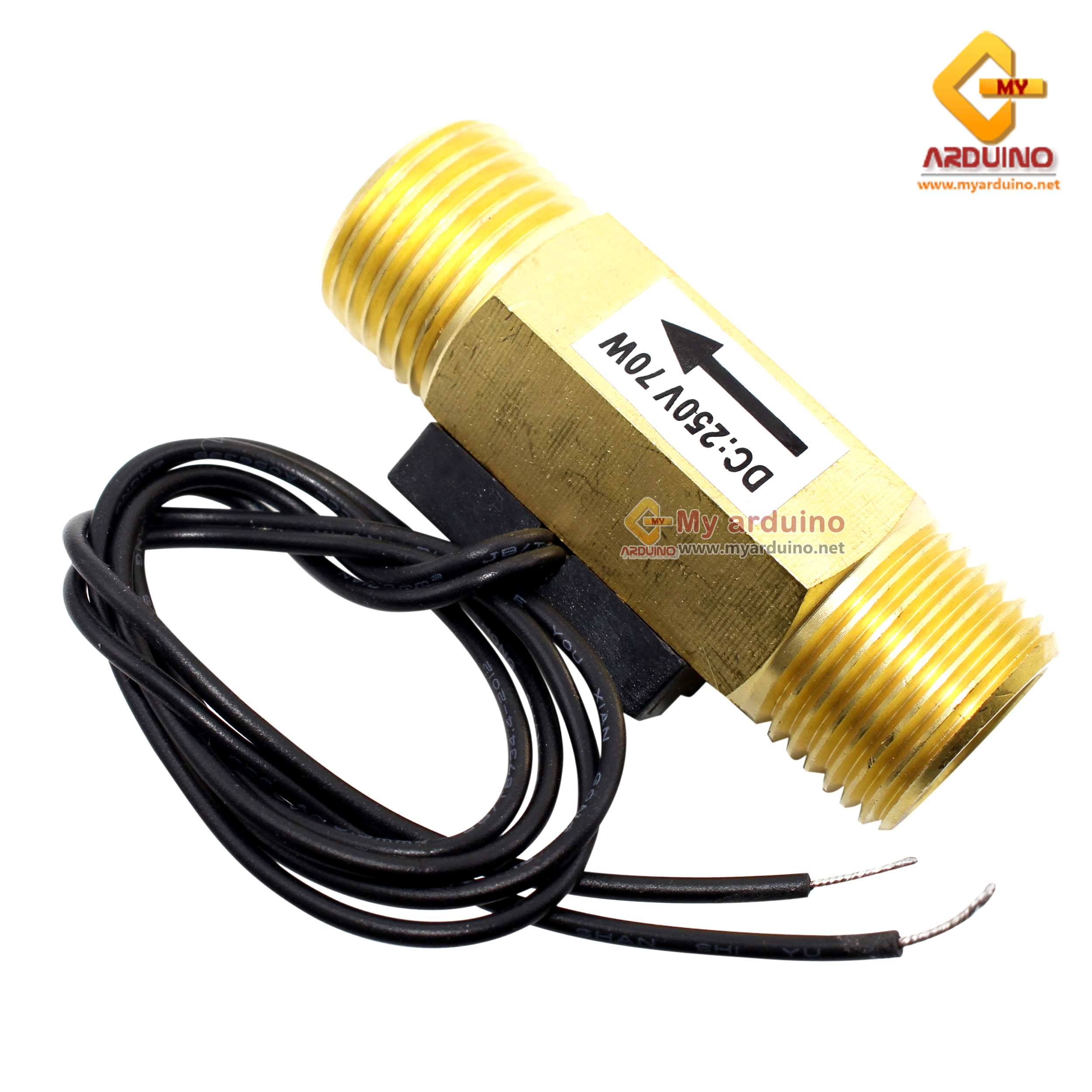 DN15 G1//2/' Brass Water Flow Control Switch Magnetic Fluid Flowmeter 12L//min